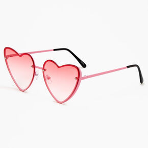 Ombre Heart Sunglasses - Pink,