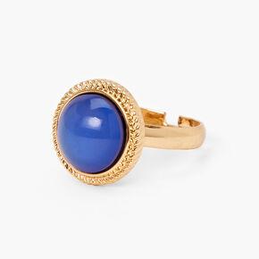 Gold Filigree Round Mood Ring,