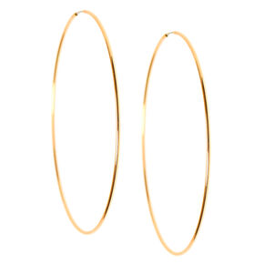 Gold 60MM Sleek Hoop Earrings,