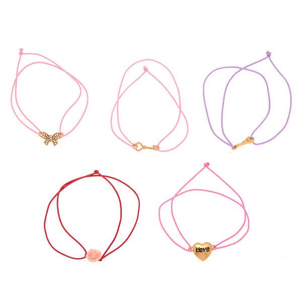Claire's - romantic paris love stretch bracelets - 2