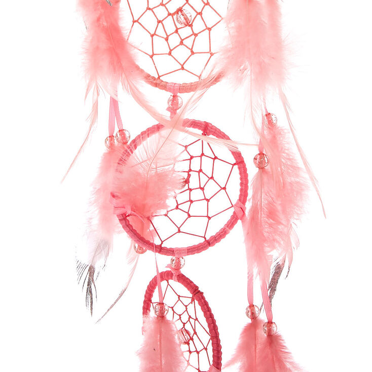 7 Tier Ombre Feather Hanging Wall Art - Pink,