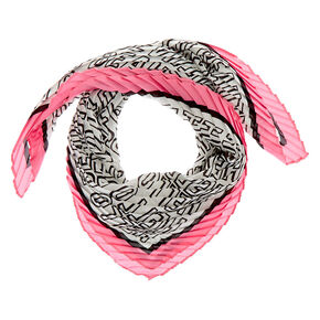 Square Beautiful Satin Fashion Scarf - Pink,