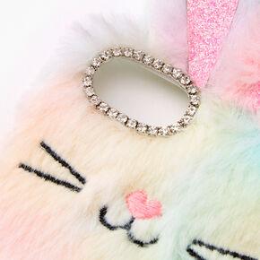 Furry Rainbow Bunny Phone Case - Fits iPhone 6/7/8/SE,