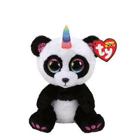 Ty Beanie Boo Small Paris the Panda With Horn Plush Toy,