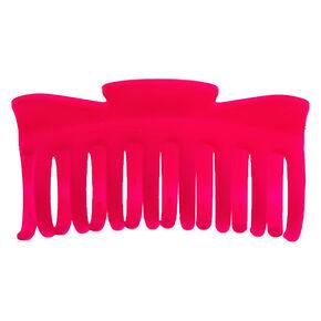 Matte Hair Claw - Neon Pink,