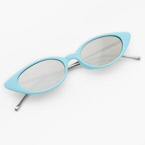 Slim Cat Eye Sunglasses - Blue,