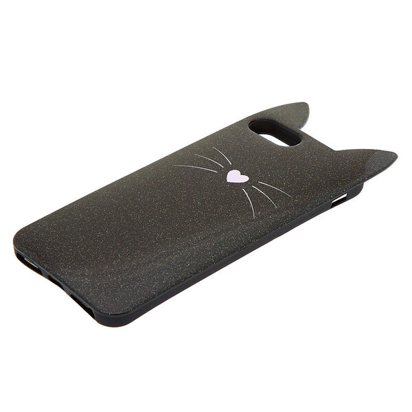 Claire's - cat glitter phone case - 2
