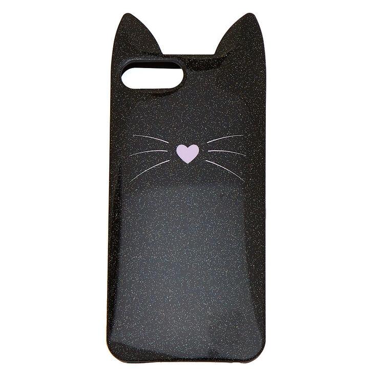 buy popular d2ca2 ff6f9 Black Cat Glitter Phone Case - Fits iPhone 6/7/8 Plus
