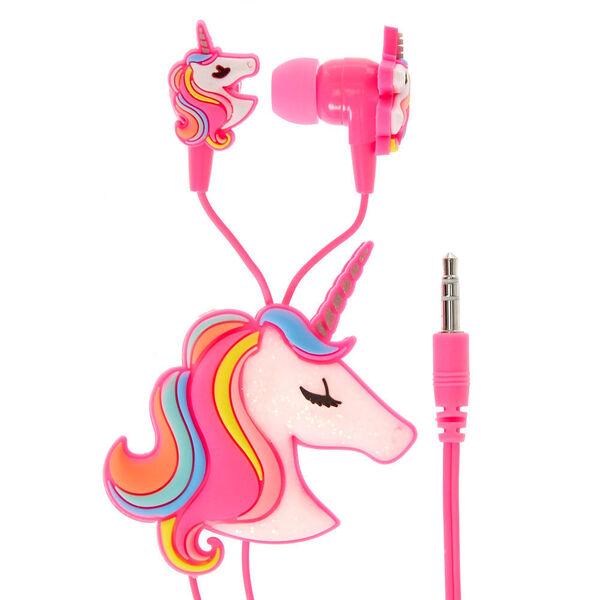 Claire's - rainbow unicorn earbuds & winder - 2