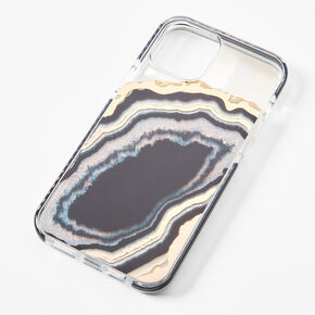 Black Marble Protective Phone Case - Fits iPhone 12/12 Pro,