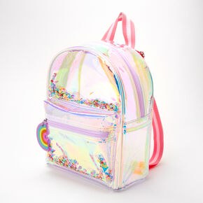 Rainbow Holographic Mini Backpack,