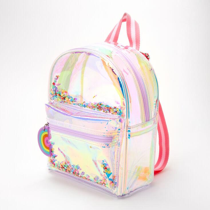 Rainbow Holographic Mini Backpack,