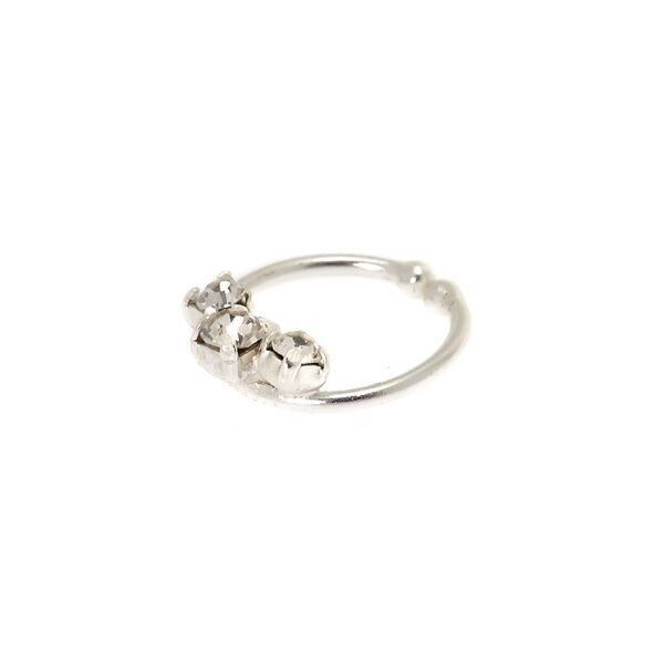 Claire's - sterling faux stone cartilage hoop earring - 1