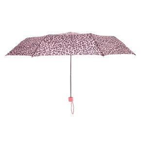 Parapluie rose imprimé léopard,