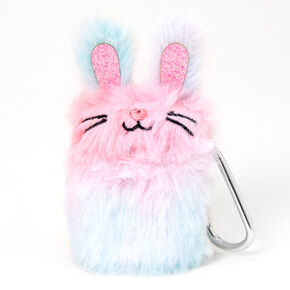 Furry Rainbow Bunny Earbud Case Cover - Compatible with Apple AirPods,