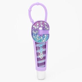 Tube de gloss à initiale - Violet, C,
