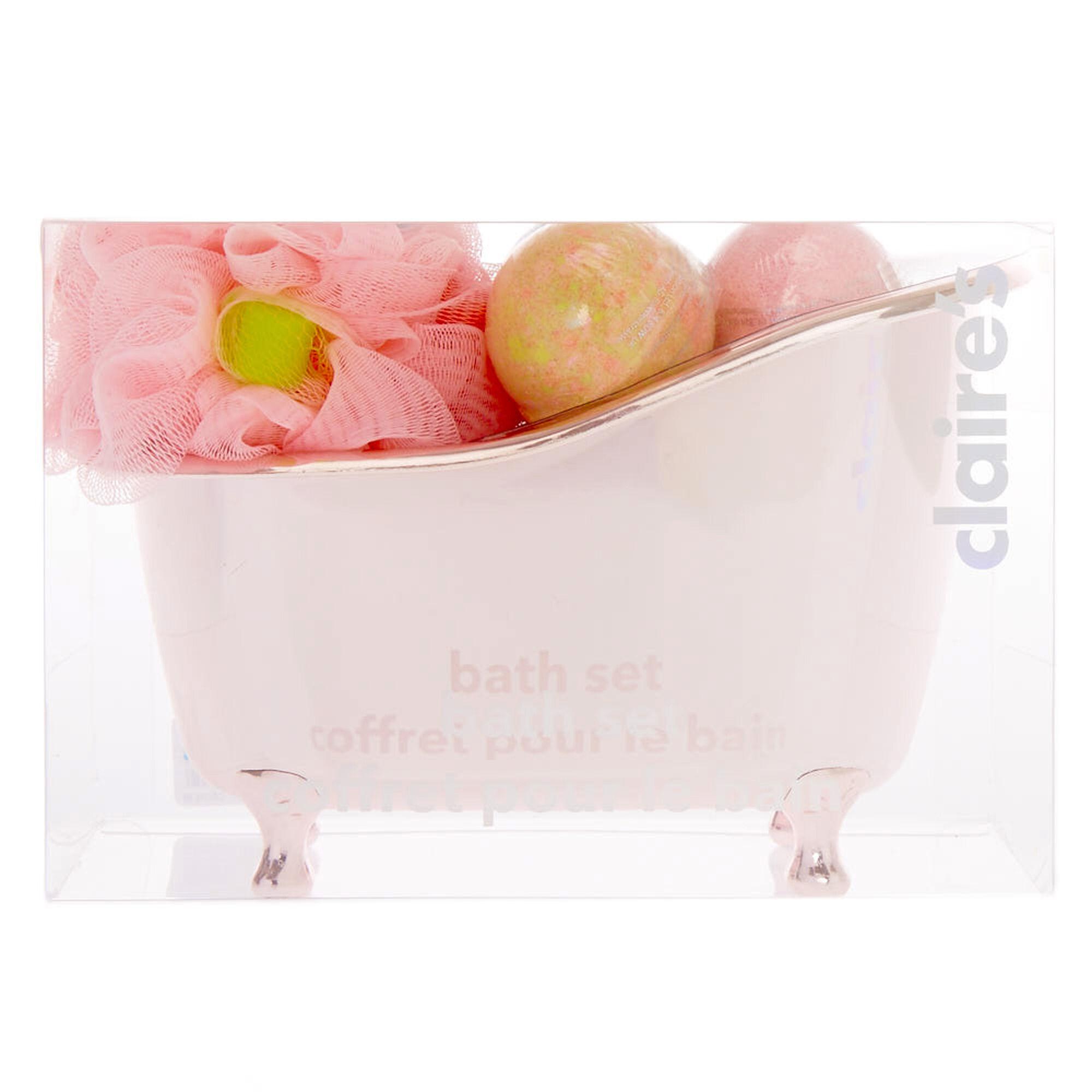Rose Gold Tub Bath Set   Claire\'s