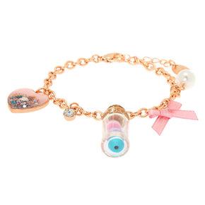 3ef3a6ec3 Rose Gold Macaroon Bottle Charm Bracelet