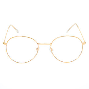 Round Clear Lens Frames - Gold,