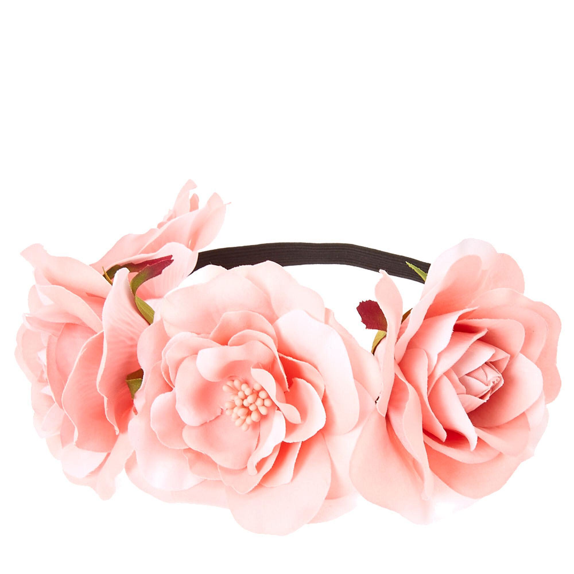couronne de fleurs lastique claire 39 s fr. Black Bedroom Furniture Sets. Home Design Ideas