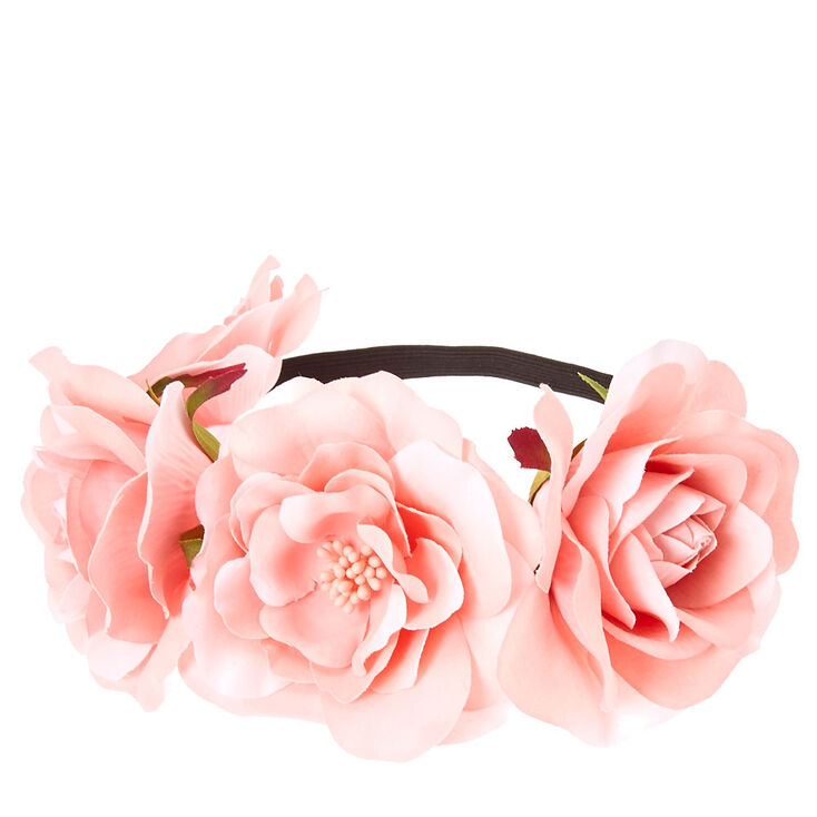 Blush Floral Stretch Flower Crown