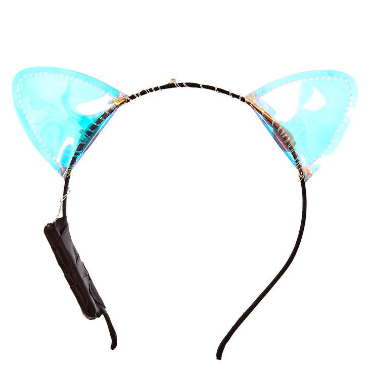 Oreilles de chat holographiques lumineuses,