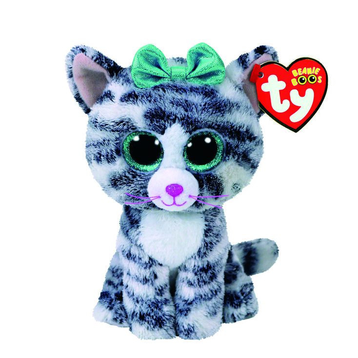 ty beanie boo small quinn the cat plush toy claire s us