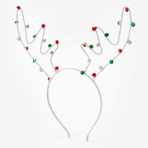 Jingle Bell Antler Headband,