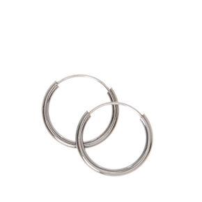 Hematite 10MM Hoop Earrings,