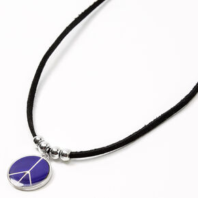 Peace Sign Mood Pendant Necklace,