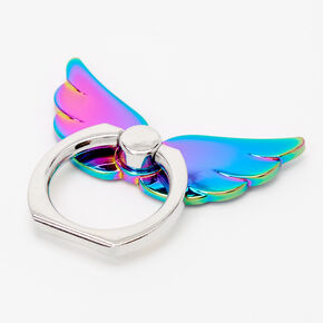 Rainbow Metallic Angel Wings Phone Ring Stand,