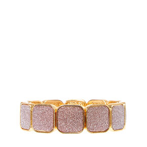 Gold Glitter Tape Stretch Bracelet,