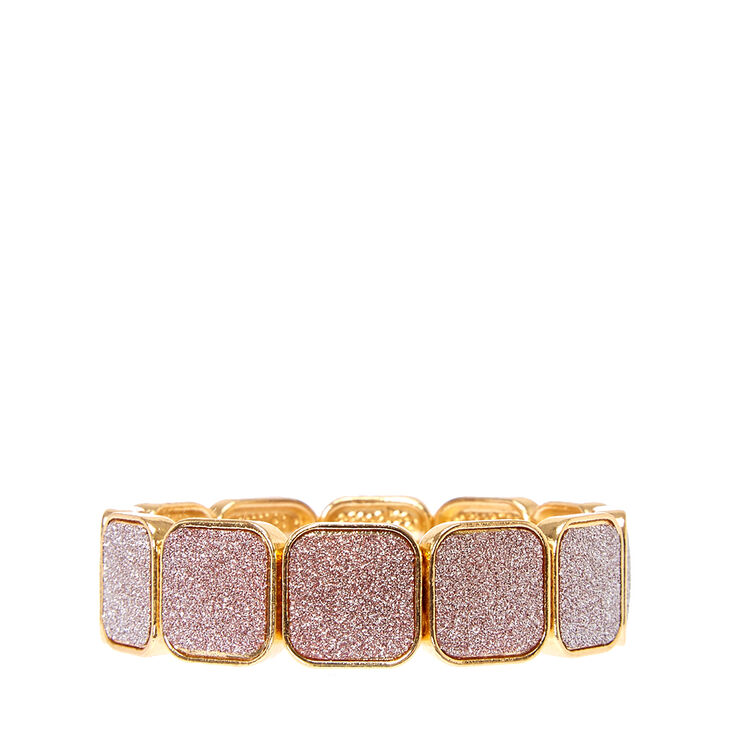 Rose Gold Glitter Tape Elastic Bracelet,