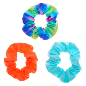 Claire's Club Small Tie Dye Hair Scrunchies - 3 Pack,