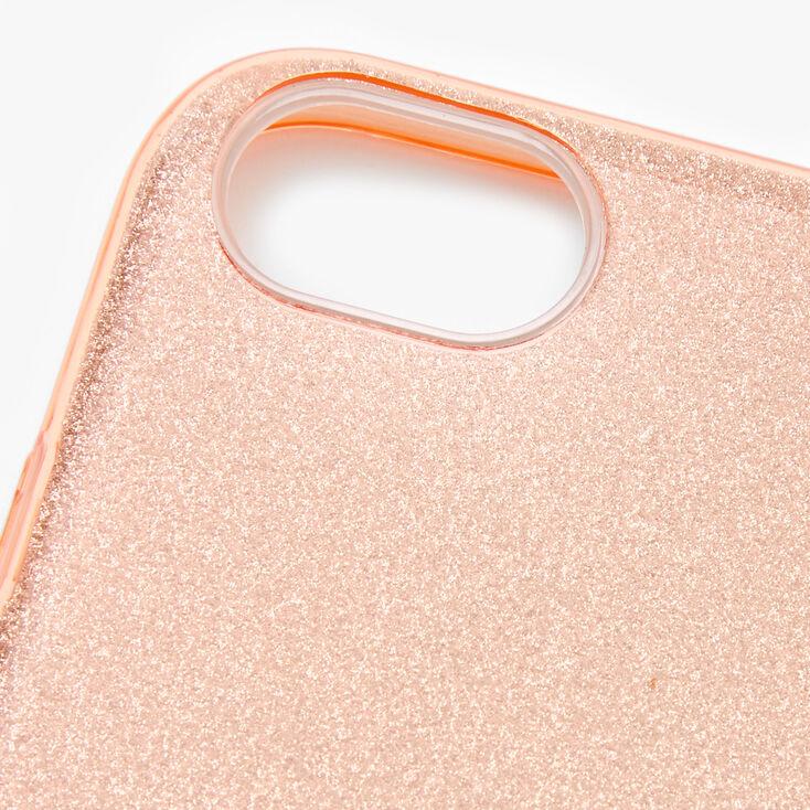 Rose Gold Glitter Phone Case - Fits iPhone 6/7/8/SE,