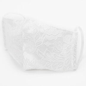 White Lace Cloth Face Mask - Adult,