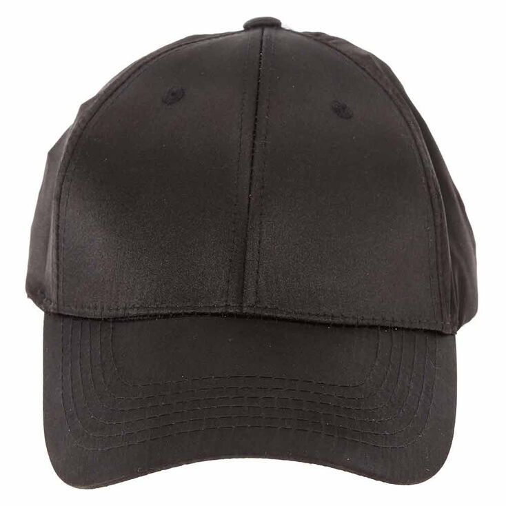 Satin Baseball Cap - Black,