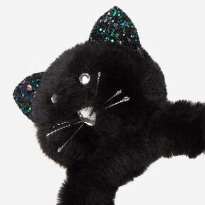 Glitter Plush Cat Headband - Black,