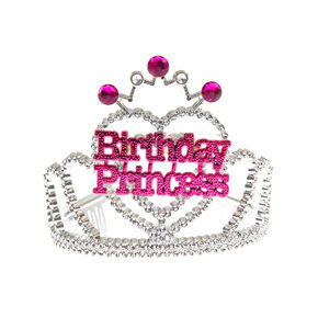Claire's Club Birthday Princess Tiara - Silver,