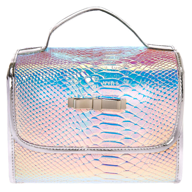 Holographic Roll Travel Makeup Bag
