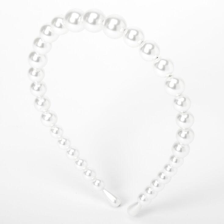 Chunky Pearl Headband - Ivory,