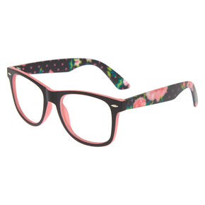 9ec5bc69138 Retro Rubberized Floral Frames - Black