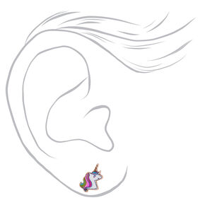 90bc5821870 18kt Rose Gold Plated Miss Glitter the Unicorn Stud Earrings