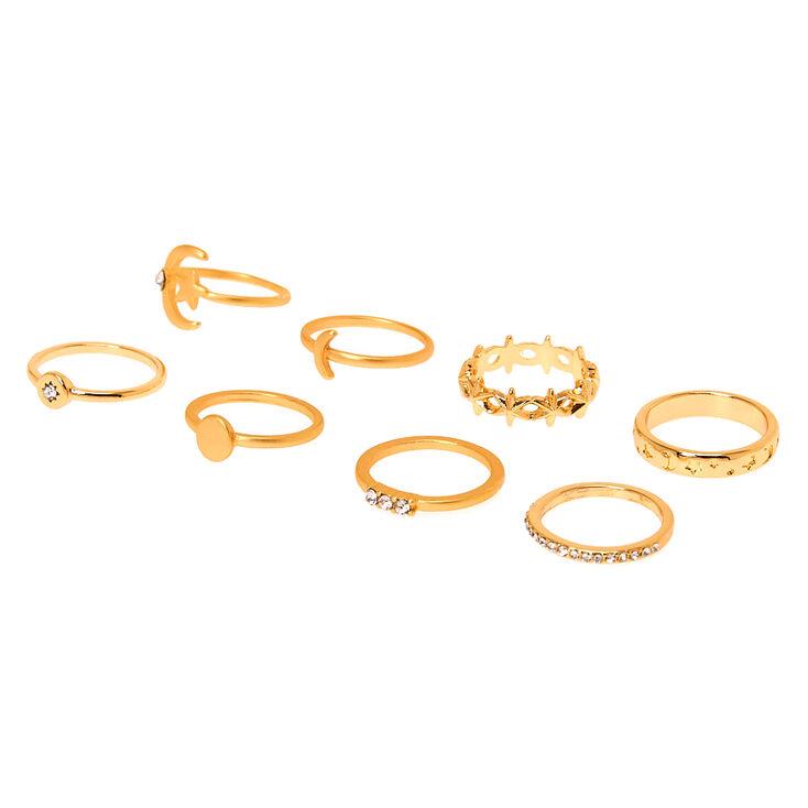 Gold Celestial Rings - 8 Pack,