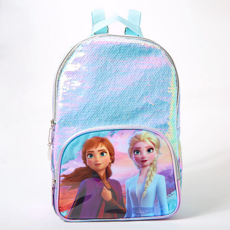 ©Disney Frozen 2 Elsa and Anna Sequins Holographic Medium Backpack - Purple,
