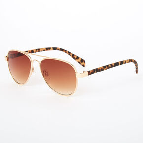 Claire's Club Leopard Print Aviator Sunglasses,