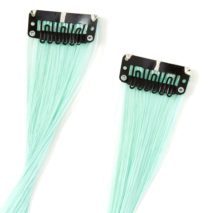 Sky Brown™ Mint & Lavender Ombre Faux Hair Clip In Extensions - 2 Pack,