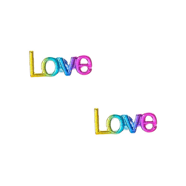 Claire's - love stud earrings - 1