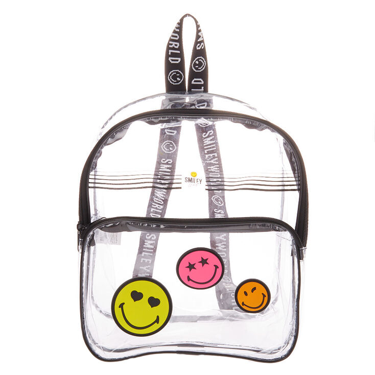 Smiley World® Icons Transparent Small Backpack - Black,