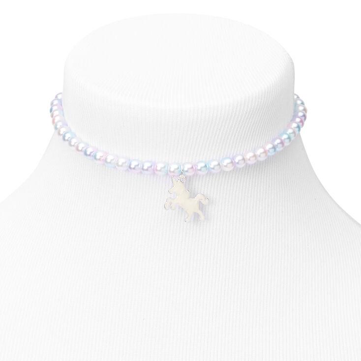 Claire's Club Pearl Unicorn Jewellery Set - Purple, 2 Pack,